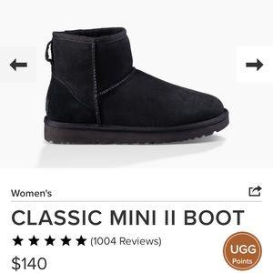 Ugg Classic Mini II in Black, size 8
